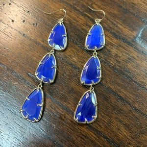 Kendra Scott Lillian cobalt blue earrings vintage